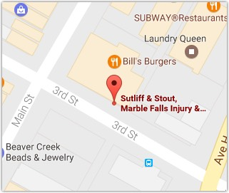 Marble Falls Injury Lawyers Sutliff Stout Map