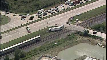 Amtrak train collided with an 18-wheeler