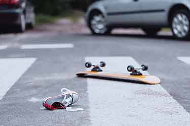 Skateboarder killed in hit and run