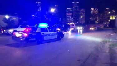 Houston Police Officer Crashes into 3 Cars