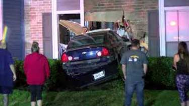 Car Crashes into North Houston Apartment