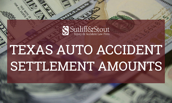 texas auto accident settlement amounts