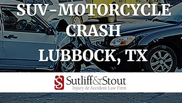 Motorcycle-SUV Crash Left One Injured in Lubbock