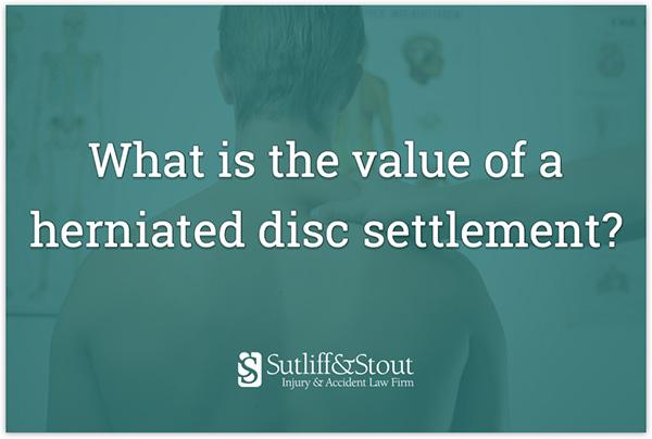 how much of a settlement to expect for a herniated disc