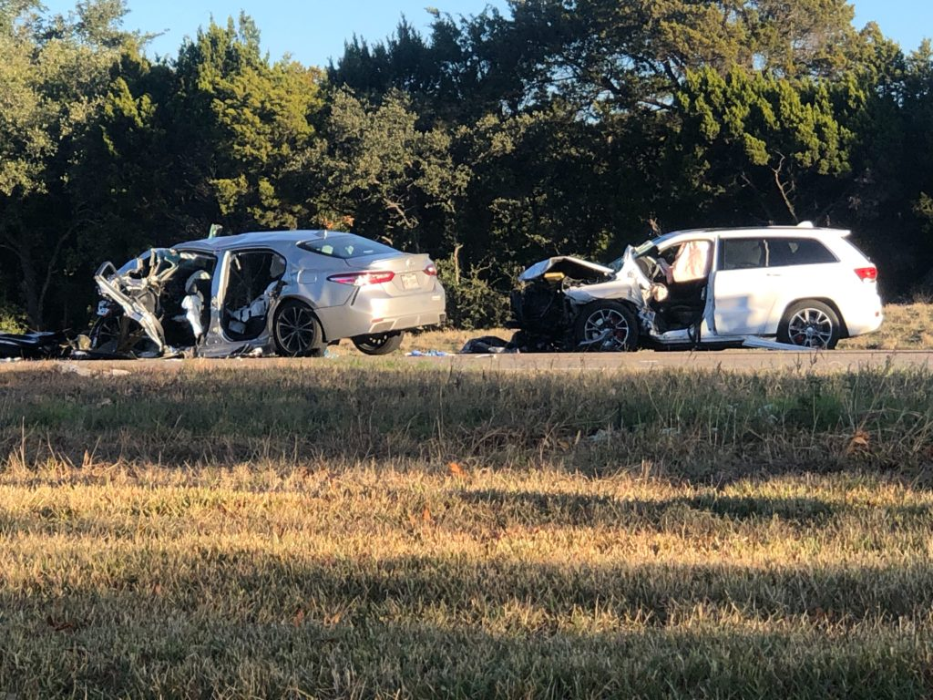 Four Injured in Crash on Texas 71 West of Oak Hill