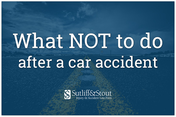 What Not to Do After Car Accident Injury