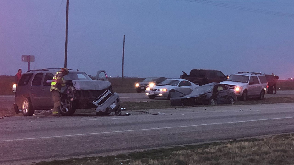 Four Injured in Fatal Multi-Vehicle Wreck
