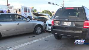 Accident involving Five Vehicles Left Minor Injuries in College Station