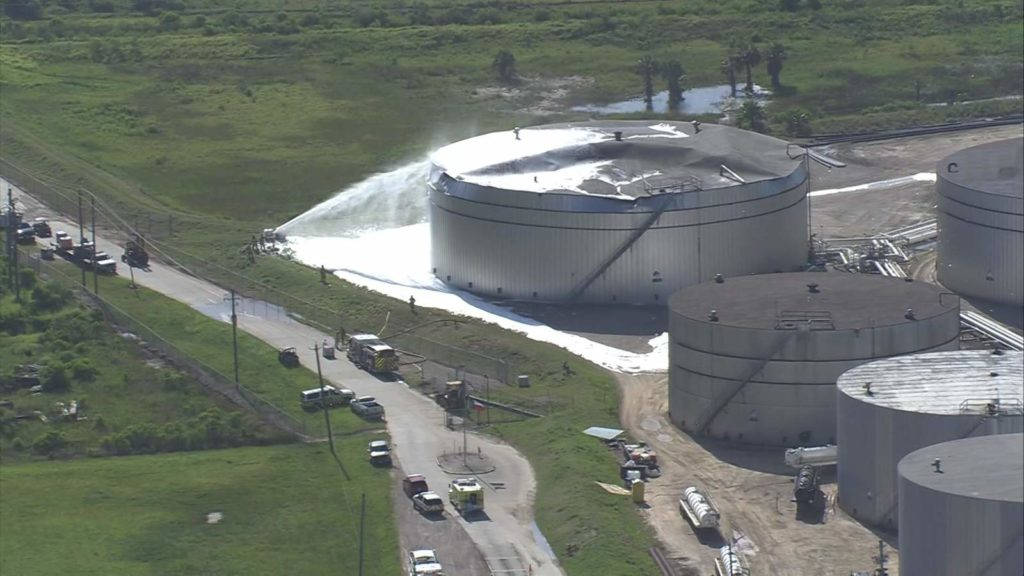 Two Workers Injured in Oil Tank Explosion in Galveston