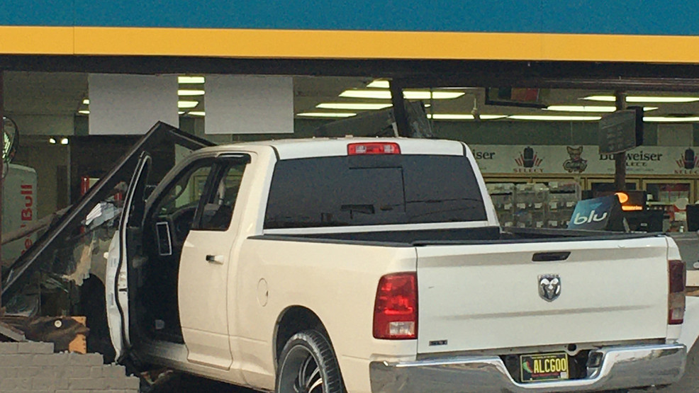 Two People Injured after Vehicle Crashes into a Gas Station